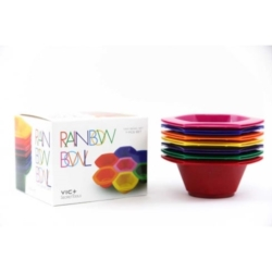 Rainbow Tint Bowls - zestaw 7 kolorowych miseczek do farbowania