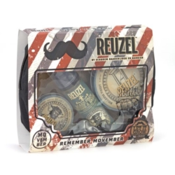 Reuzel zestaw Remember Movember Beard balsam, pianka, krem do golenia
